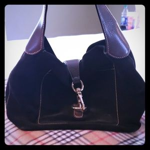 Dooney & Bourke black suade purse